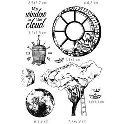 Ciao Bella leimasinsetti Moon & Me, Windows in the cloud
