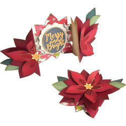 Sizzix Thinlits stanssisetti Poinsettia Fold-A-Long