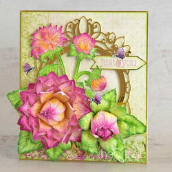 Heartfelt Creations Dahlia and Leaves -leimasin