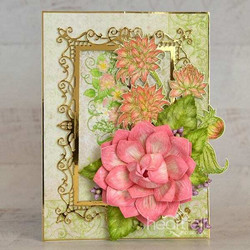 Heartfelt Creations Dahlia and Leaves -stanssisetti