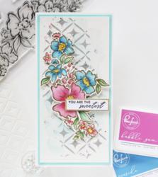Pinkfresh Studio leimasinsetti Floral Notes