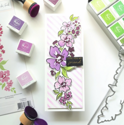 Pinkfresh Studio stanssi Floral Notes