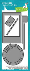 Lawn Fawn stanssisetti Magic Iris Camera Pull-Tab Add-On
