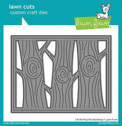 Lawn Fawn stanssisetti Lift The Flap Tree Backdrop