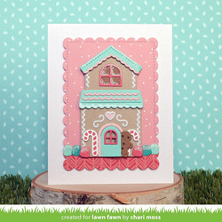 Lawn Fawn stanssisetti Build-A-House Gingerbread Add-On