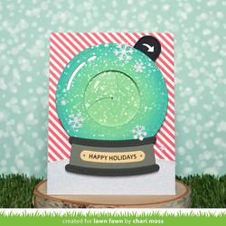 Lawn Fawn stanssisetti Magic Iris Snow Globe Add-On