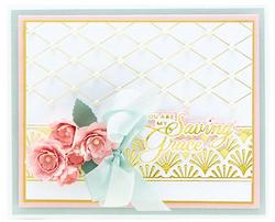 Spellbinders Glimmer Hot Foil -kuviolevy Diamonetta Background