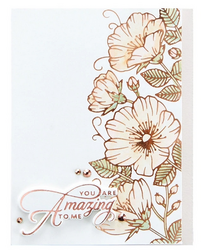 Spellbinders Glimmer Hot Foil -kuviolevy Sweet Blooms Border