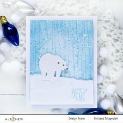 Altenew Mini Delight: Polar Bear -leimasin- ja stanssisetti