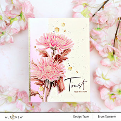 Altenew Paint-A-Flower: Spider Mums -leimasinsetti