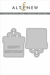 Altenew Layered Gift Tag, Present -stanssisetti