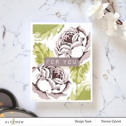 Altenew Tranquility Rose Simple Coloring -sapluunasetti
