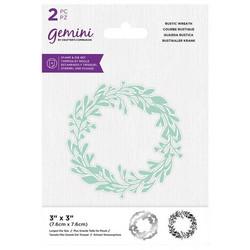Gemini leimasin- ja stanssisetti Rustic Wreath
