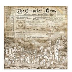 Stamperia Sir Vagabond skräppipaperi Cityscape