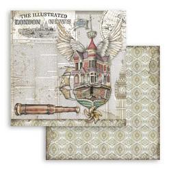 Stamperia Lady Vagabond skräppipaperi Flying Ship
