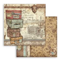 Stamperia Lady Vagabond skräppipaperi Luggage