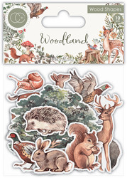 Craft Consortium Woodland Wooden Shapes -koristeet