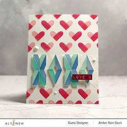 Altenew Color Block Hearts -sapluuna