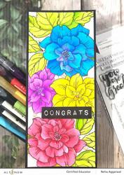 Altenew Courageous You Simple Coloring -sapluuna