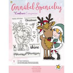 Crafter's Companion Annabel Spenceley leimasinsetti Hello Winter