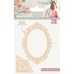 Crafter's Companion Rose Garden Chipboard kuvioleikkeet, 6 kpl