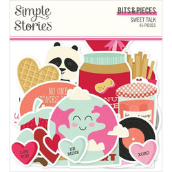 Simple Stories Sweet Talk Bits & Pieces Die-Cuts, leikekuvat