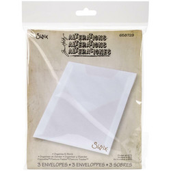 Sizzix Plastic Storage Envelopes, säilytystaskut, 3 kpl