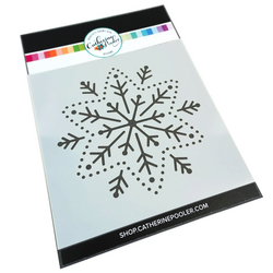 Catherine Pooler sapluuna Embroidered Snowflake