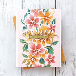 Pinkfresh Studio sapluunasetti Seamless Floral Panel, A2