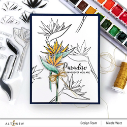 Altenew Bird of Paradise -stanssisetti