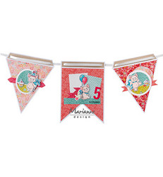 Marianne Design sapluuna Flags
