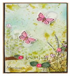 Marianne Design stanssi- ja leimasinsetti Tiny's Butterflies