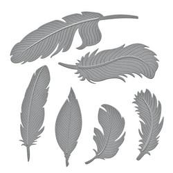Spellbinders stanssisetti Feathers