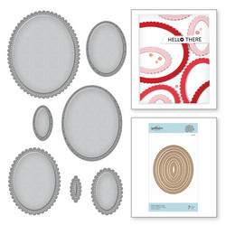Spellbinders stanssisetti Fancy Edged Ovals
