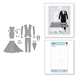 Spellbinders stanssisetti Wedding Dress & Tux