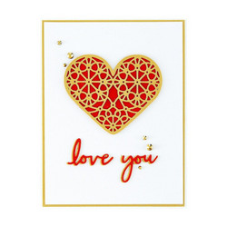 Spellbinders stanssisetti Forever Love Hearts