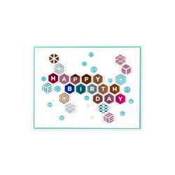 Spellbinders Glimmer Hot Foil -kuviolevy Honeycomb Alphabet