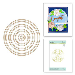 Spellbinders Glimmer Hot Foil -kuviolevy Essential Duo Lines Glimmer Circles