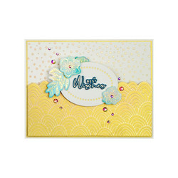 Spellbinders Glimmer Hot Foil -kuviolevy Hand Drawn Wave
