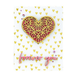 Spellbinders Glimmer Hot Foil -kuviolevy Scattered Hearts Background