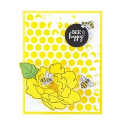 Spellbinders Sweet Honeycomb -sapluuna