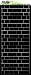 Picket Fence sapluuna Slimline English Brick Wall