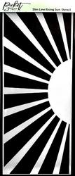 Picket Fence sapluuna Slimline Rising Sun