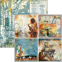 Ciao Bella Blue Note -skräppipaperi Cards
