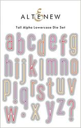 Altenew Tall Alpha Lowercase -stanssisetti