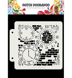 Dutch Doobadoo Grunge Clock -sapluuna
