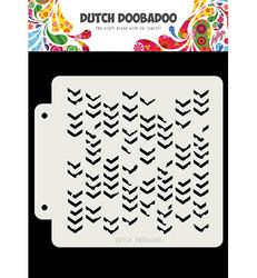 Dutch Doobadoo Grunge Chrevrons -sapluuna