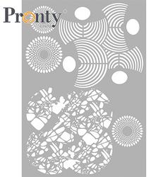 Pronty sapluuna Layered Circles, A4