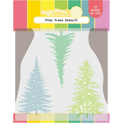 Waffle Flower sapluuna Pine Trees