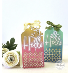 Pinkfresh Studio stanssisetti Classic Tags With Fillable Elements